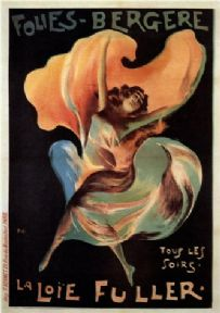 La Loie Fuller, Folies-Bergere. Vintage French Advertising Poster.
